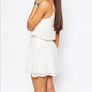 Abercrombie & Fitch White Eyelet Lace Dress
